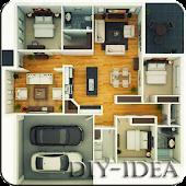 3D Floor Design Idea