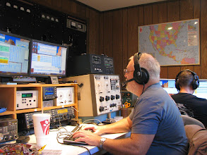 Photo: Terry W8ZN (foreground) on 20m SSB and Jason KJ4EOO (background) on 40m SSB