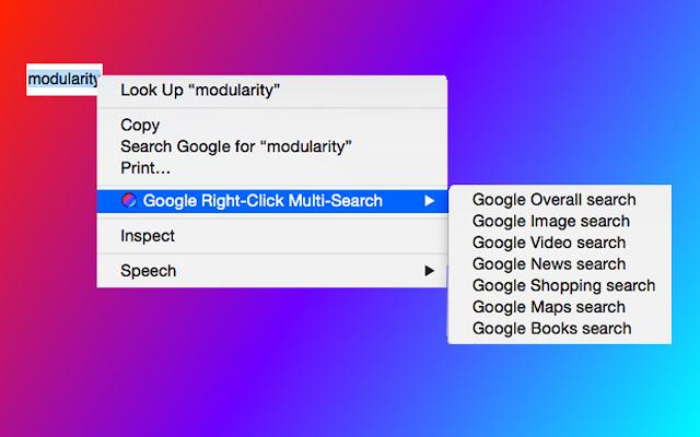 Google Right-Click Multi-Search
