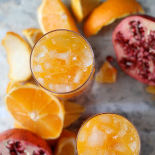 Clementine and Pomegranate Cocktail.