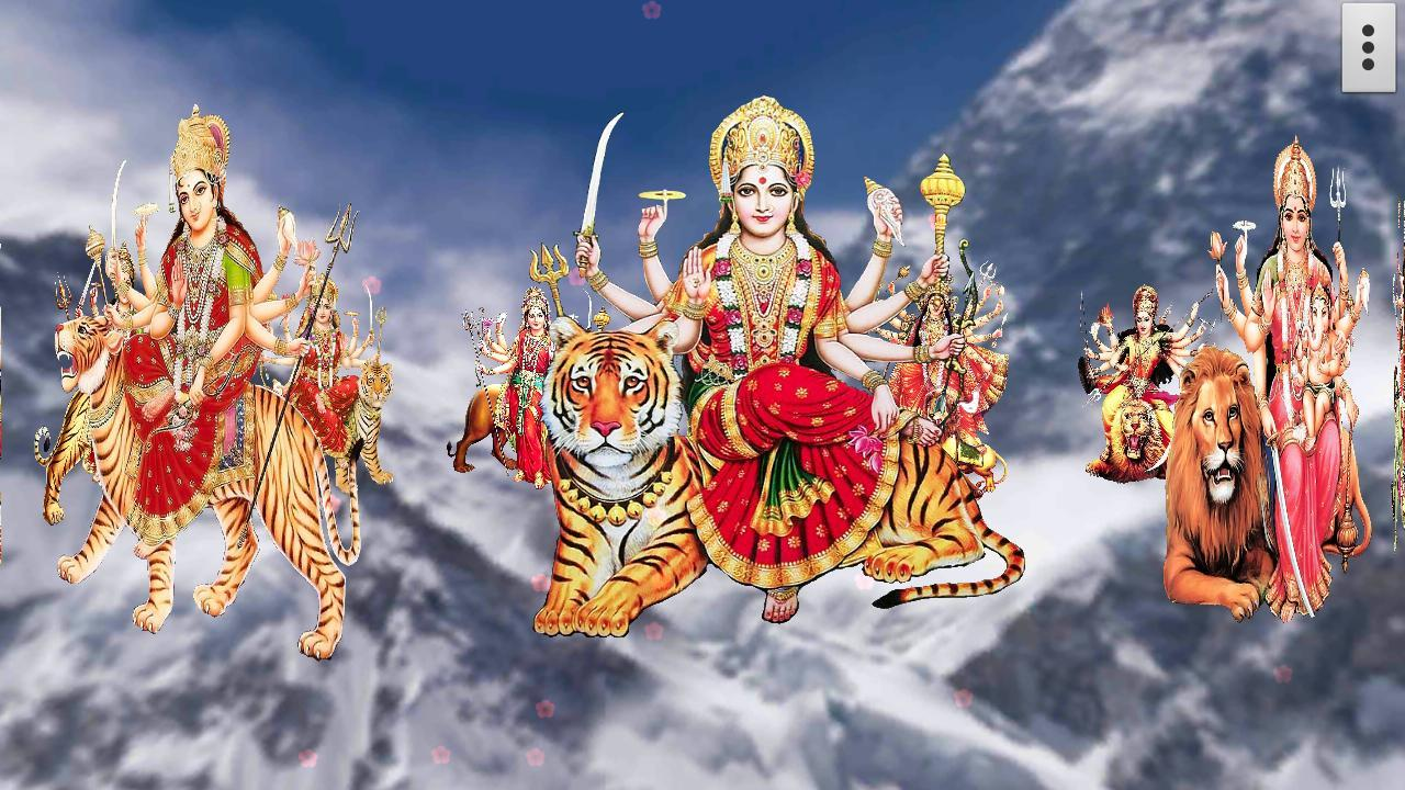 Satish Name 3d Wallpaper Download 4d Maa Durga Live Wallpaper Android Apps On Google Play