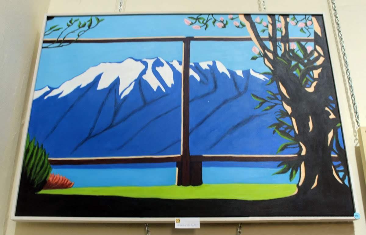 2º Accésit de pintura: 'Paisaje de los Alpes' de Dª. Encarna Fernández Herraiz