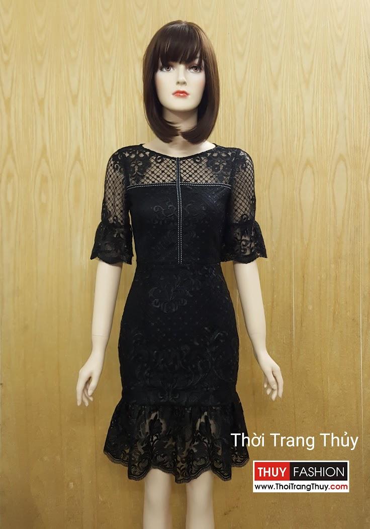 Váy ren dự tiệc dáng xòe loa kèn V517 tại Hải Phòng