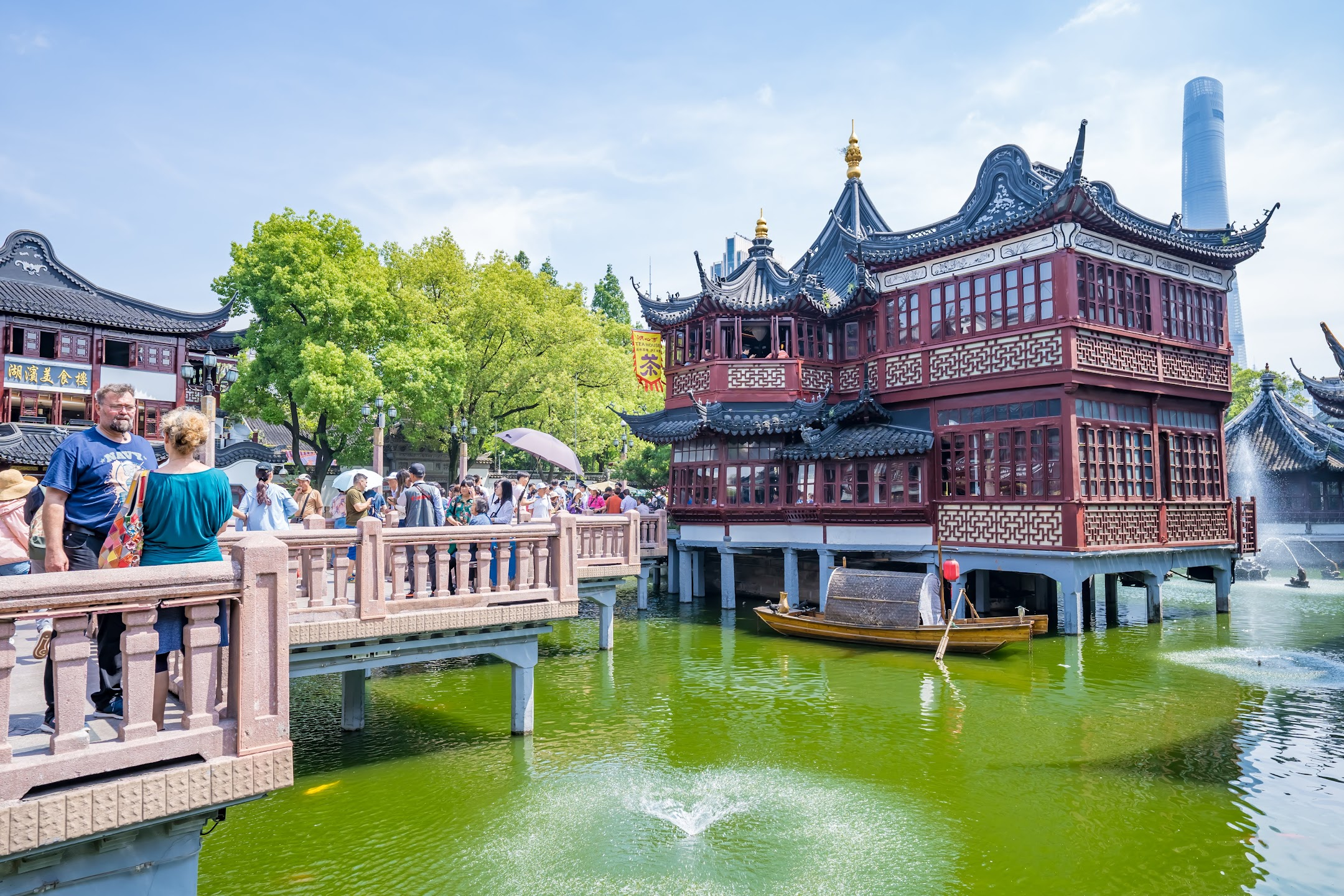 Shanghai Yuyuan Huxin Pavilion (The Mid-Lake Pavilion Teahouse)3