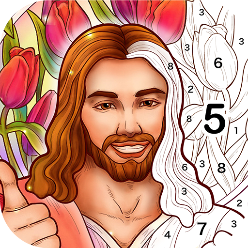 Bible Coloring – Paint by Number, Free Bible Games