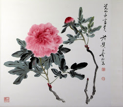 Photo: 花開富貴(2003) 時年77歲  68 x 69cm