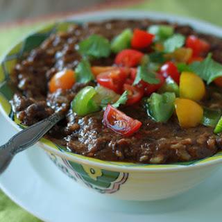 Crock Pot Vegan Black Bean and Brown Rice Soup