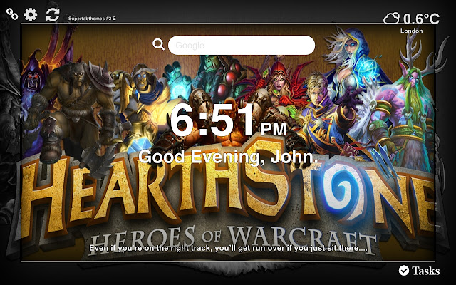 Hearthstone HD Wallpaper Tab Theme