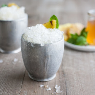Bourbon and Honey Grilled Pineapple Mint Julep.