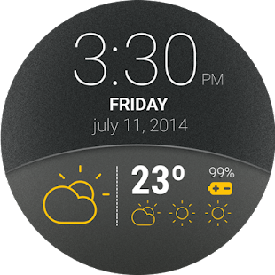 Weather Watch Face Screenshot