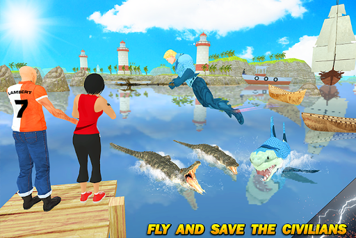 Multi Aqua Shark Hero Vs Sea Animals 1.2 screenshots 3