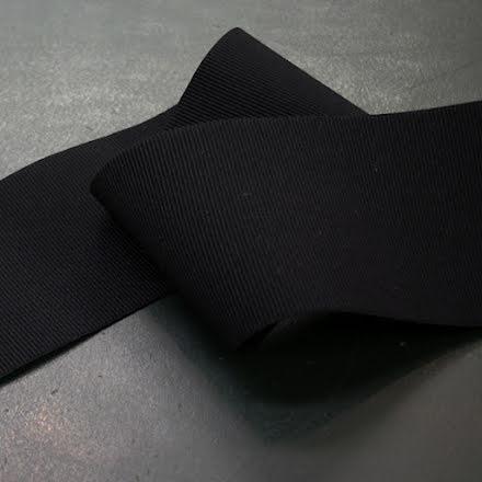 Bred Resår 80mm - svart