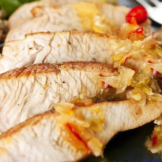 Turkey Breast With Sweet And Sauerkraut Dressing.