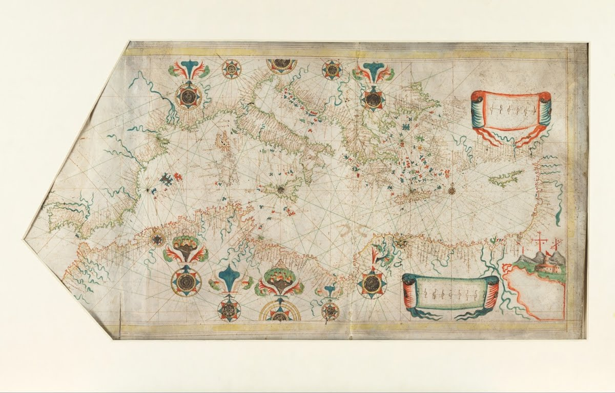 Portolan Chart Of The Mediterranean Sea Attributed To Oliva Family Google Arts Culture