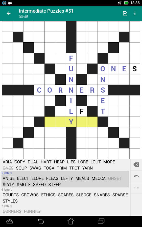 Fill-In Crosswords (Word Fit Puzzles)- screenshot