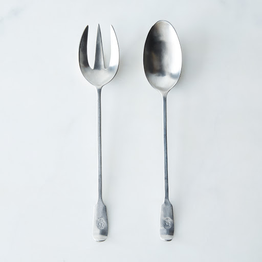 Antique-Molded Pewter Servers