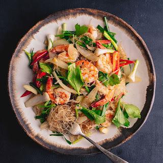 Stir-Fried Glass Noodles with Prawns (Pad Woon Sen) Recipe