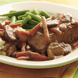 Slow-Cooker Easy Slow-Cooker Pot-Roasted Steak.