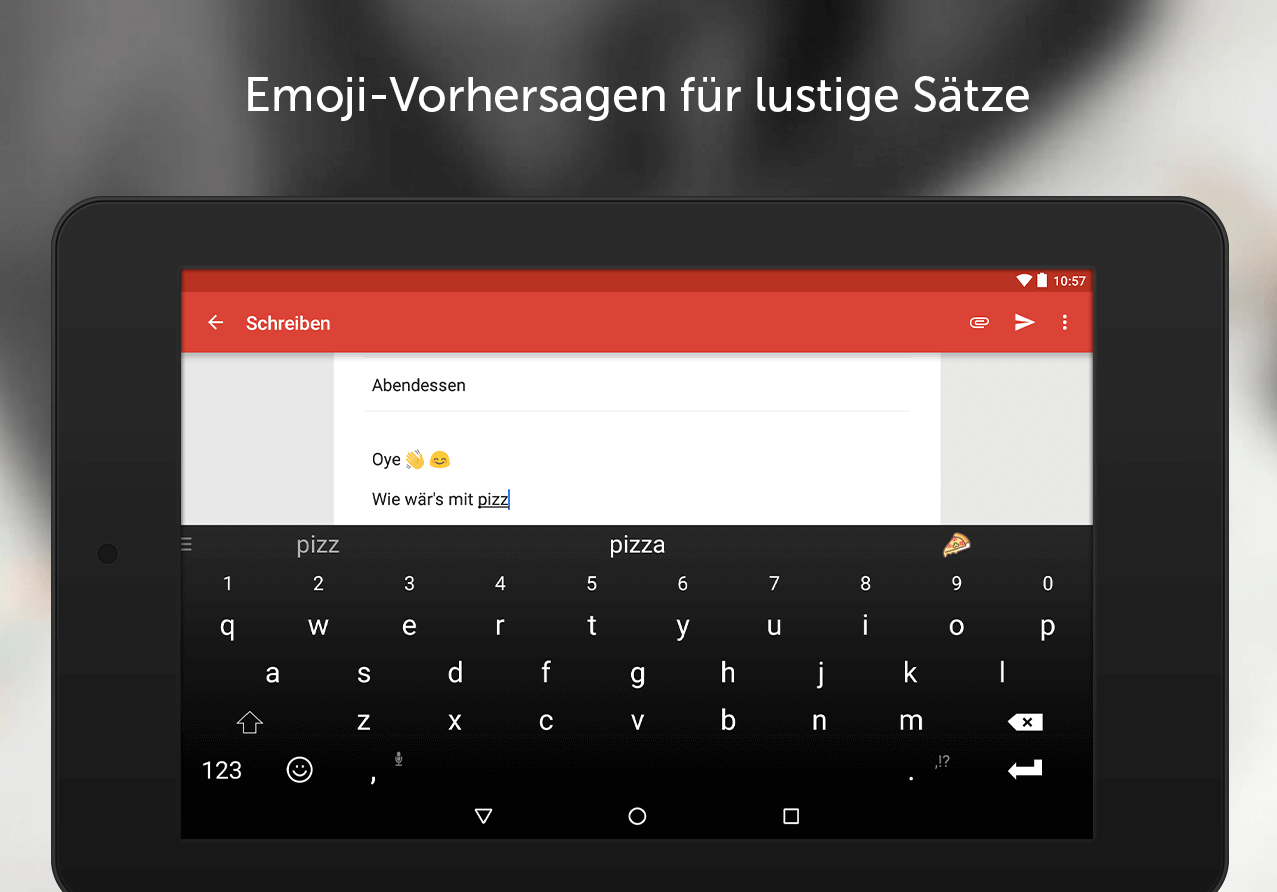 SwiftKey Tastatur – Screenshot