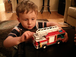 Photo: Finn's New Lego Firetruck