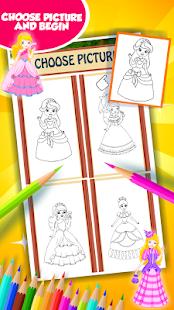 Princezna omalovánky k vytiskn - náhled