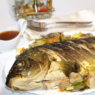 Carp with Vegetables and Sweet & Sour Sauce