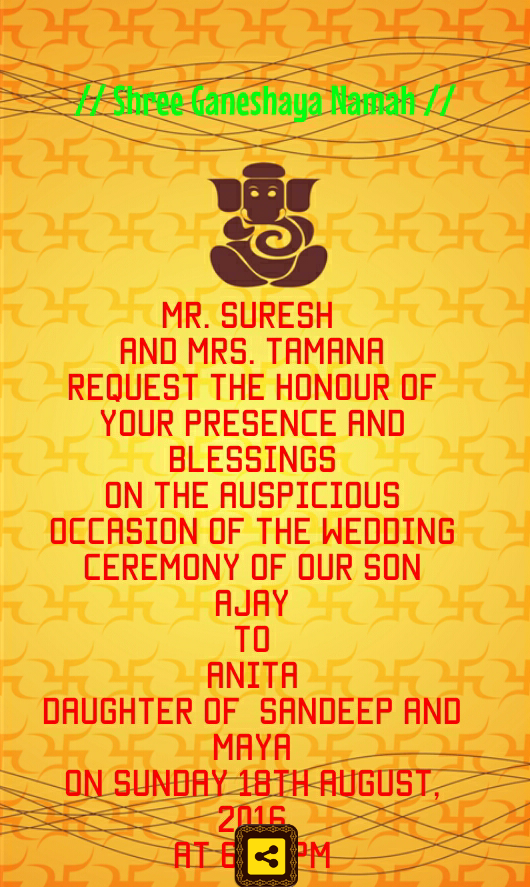Hindu Wedding Invitation Cards Android Apps on Google Play – Create Invitations Online Free No Download