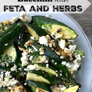 Zucchini with Feta and Herbs.