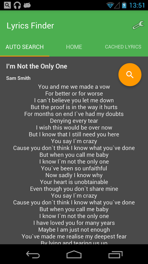 Lyrics- screenshot