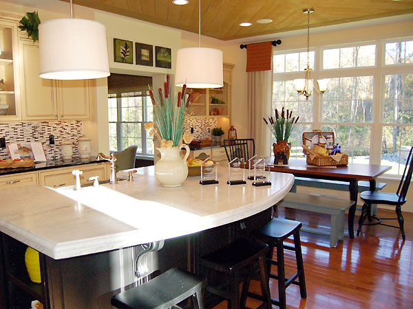 Photo: The kitchen and dining area in our PRESTON model home.