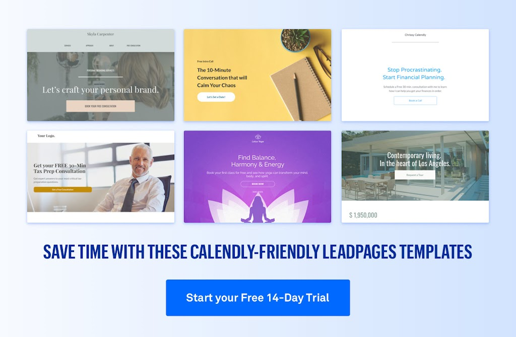 Calendly + Leadpages