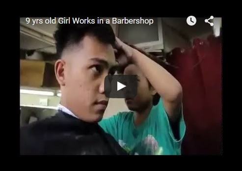 9-year-old girl cut a guy's hair perfectly
