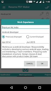 Resume PDF Maker / CV Builder - Apps on Google Play