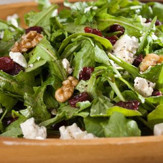 Arugula Salad with Walnuts, Dried Cherries and Feta