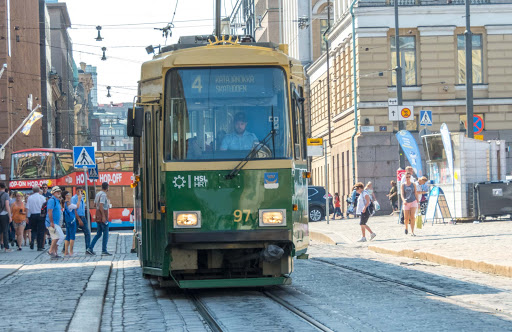helsinki-tram.jpg - The Helsinki tram network is one of the most advanced public transportation systems in the world.
