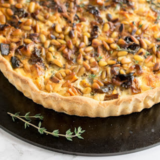 Butternut, Ricotta & Pine Nut Quiche