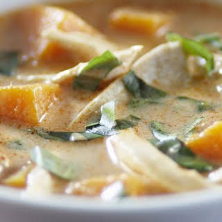 Thai Coconut Soup with Chicken and Pumpkin.