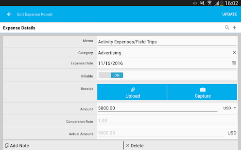 Apptivo Expenses- screenshot thumbnail