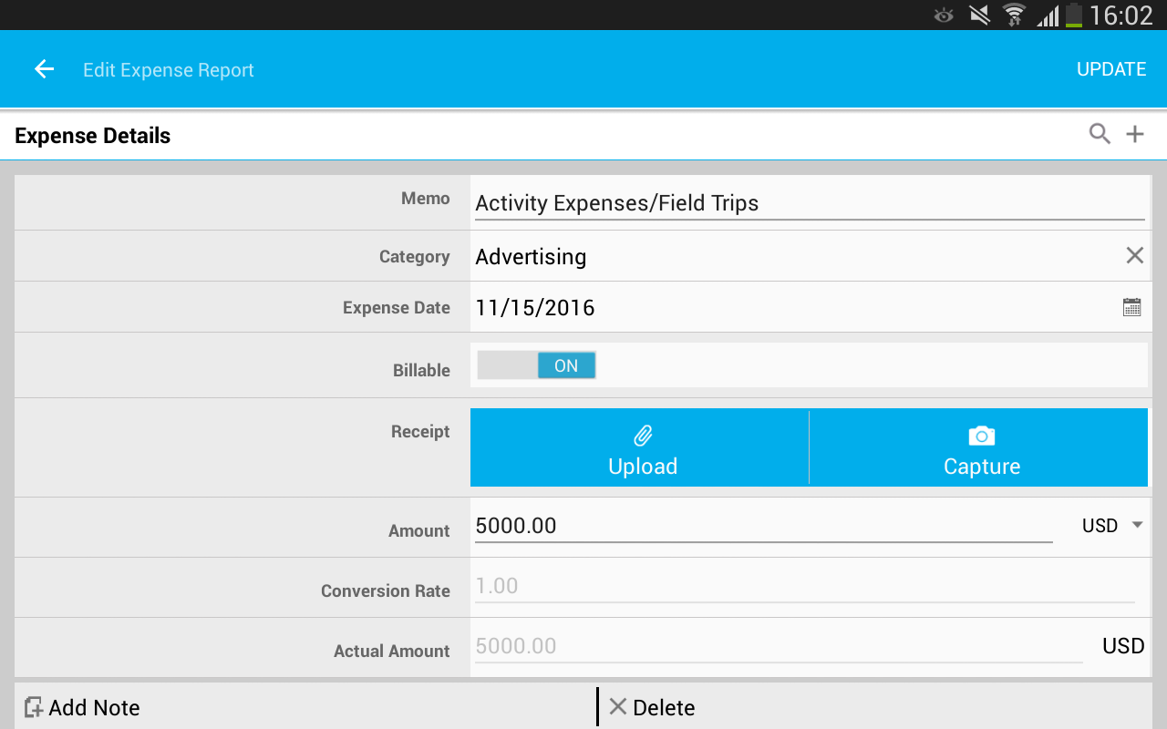 Apptivo Expenses- screenshot