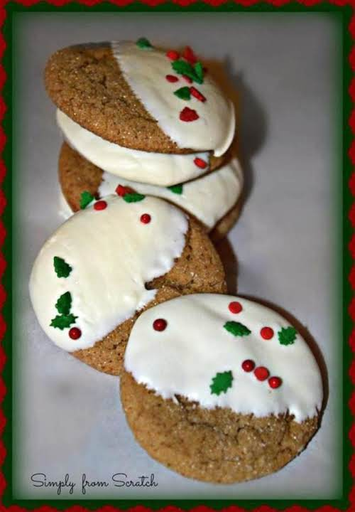 "Festive Ginger Molasses Cookies""I've been looking for the ""perfect"" molasses cookies for..."