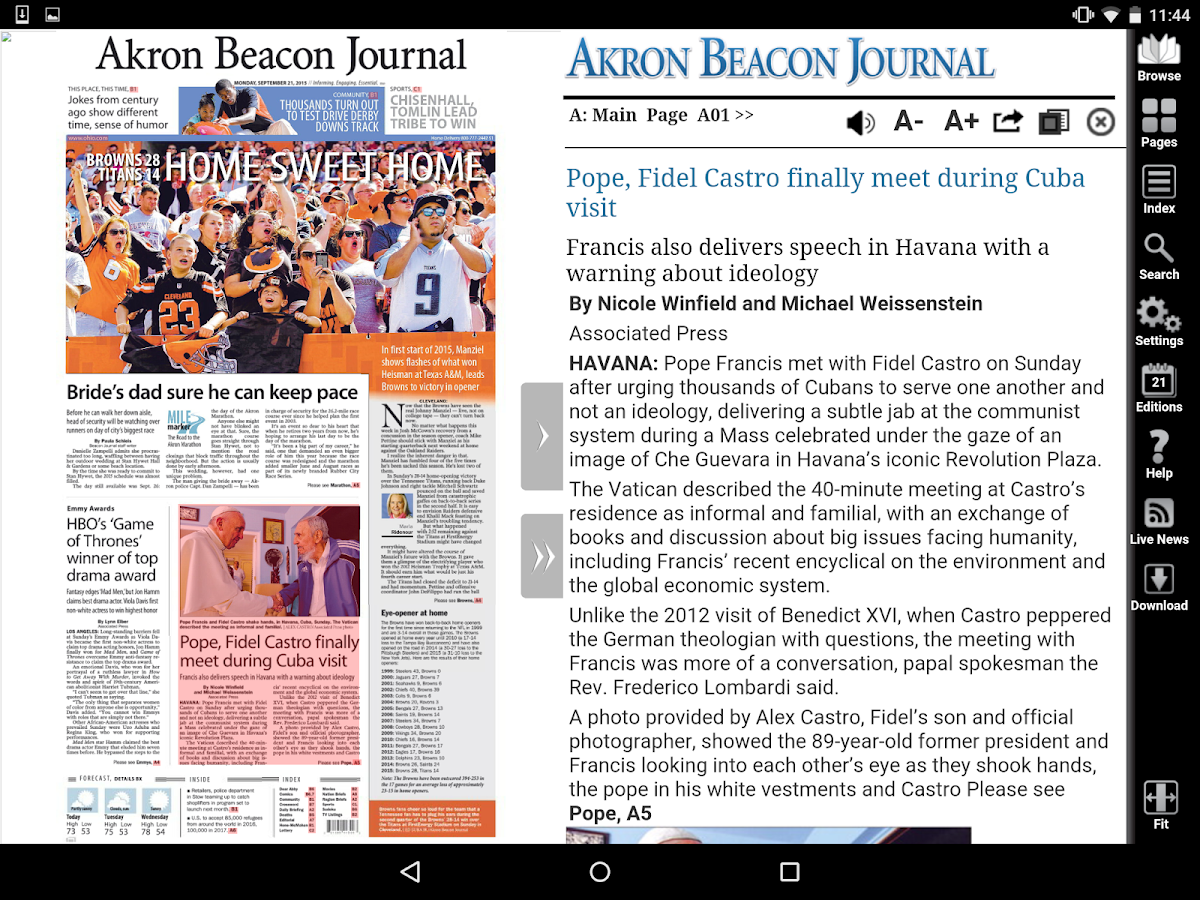 Akron Beacon Journal- screenshot