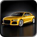 Racing cars super icon