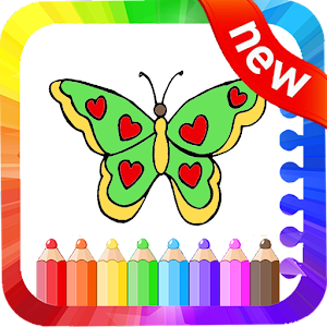 Coloring Book of Butterfly & Drawing Game
