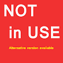 Not in use now icon