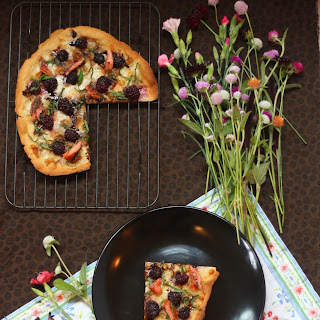 Savory-Sweet Blackberry and Smoked Salmon Pizza