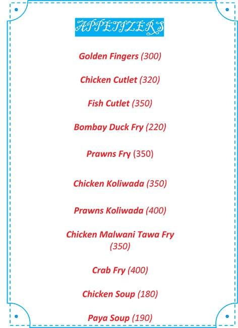 Navmi Gajalee menu 5