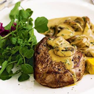 Steak With Stroganoff Sauce.