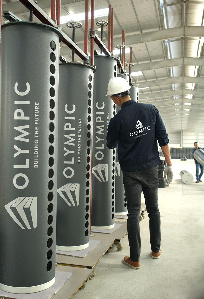 Máy năng lượng mặt trời Olympic sản xuất trên dây chuyền đạt tiêu chuẩn châu Âu