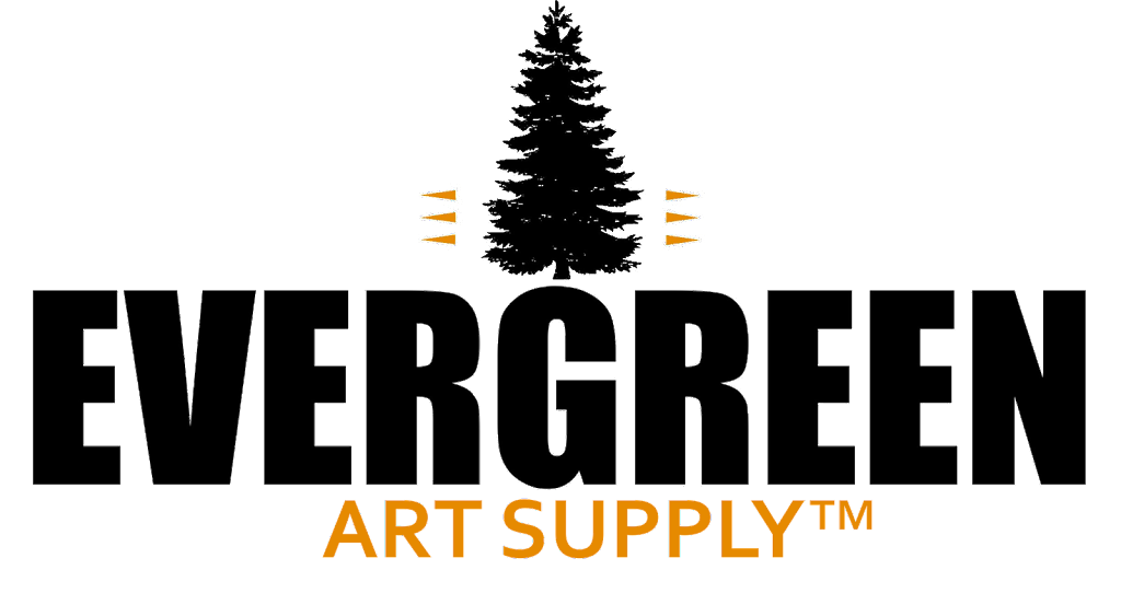 Evergreen Art Supply Black Transparent Background