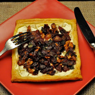 Red Onion, Walnut and Goat Cheese Tart